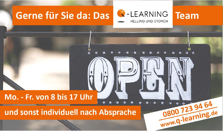 Q-LEARNING Öffnungzeiten