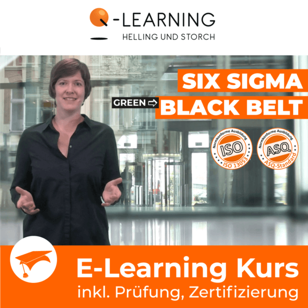 Produktbild SIX SIGMA GREEN → BLACK BELT E-Learning Kurs