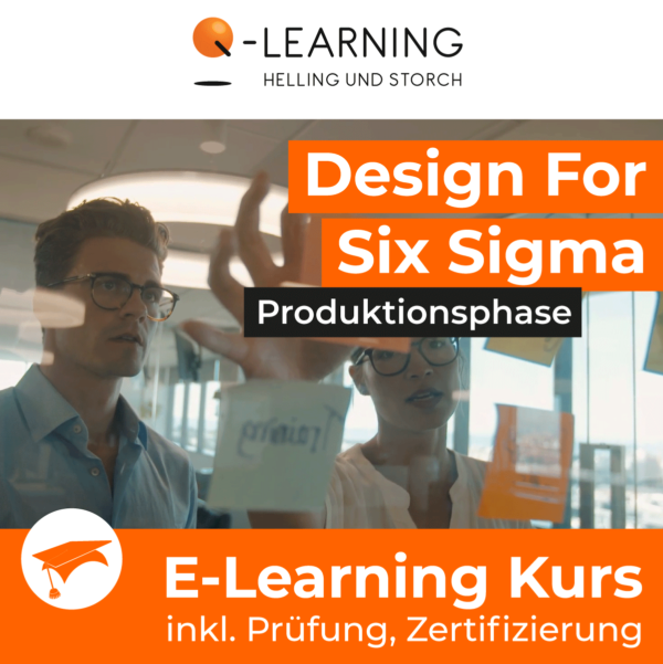 Produktbild DESIGN FOR SIX SIGMA Produktionsphase E-Learning Kurs