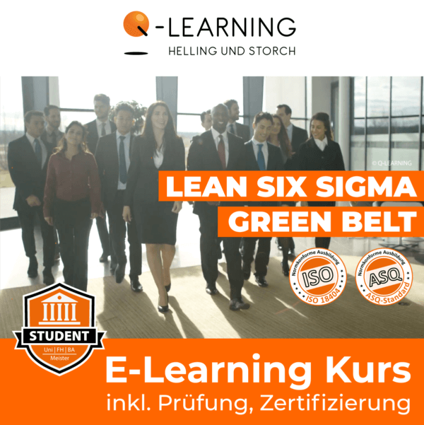 Produktbild LEAN SIX SIGMA GREEN BELT Studenten E-Learning Kurs
