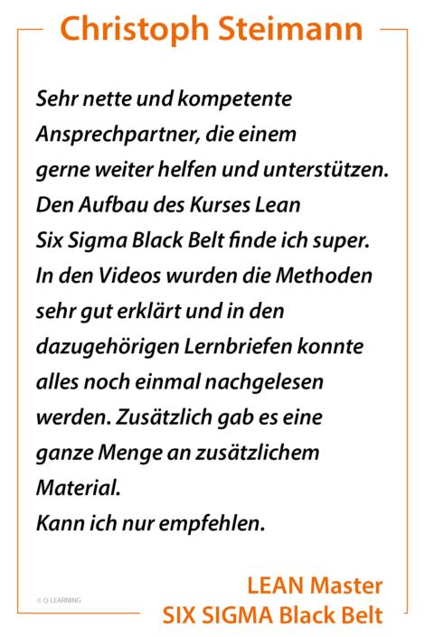 Bewertung Christoph Steimann