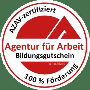 Q-LEARNING Siegel Agentur für Arbeit AZAV zertifiziert