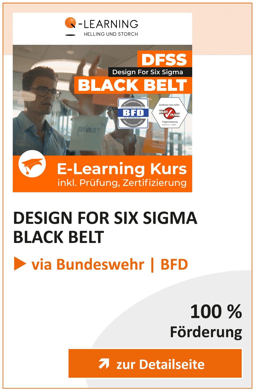 Produktbox DFSS DESIGN FOR SIX SIGMA Black Belt BFD Info