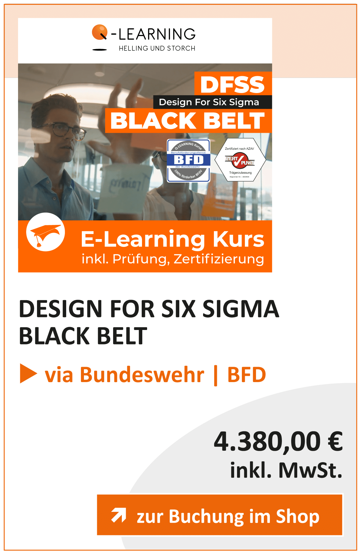 Produktbox DFSS DESIGN FOR SIX SIGMA Black Belt BFD