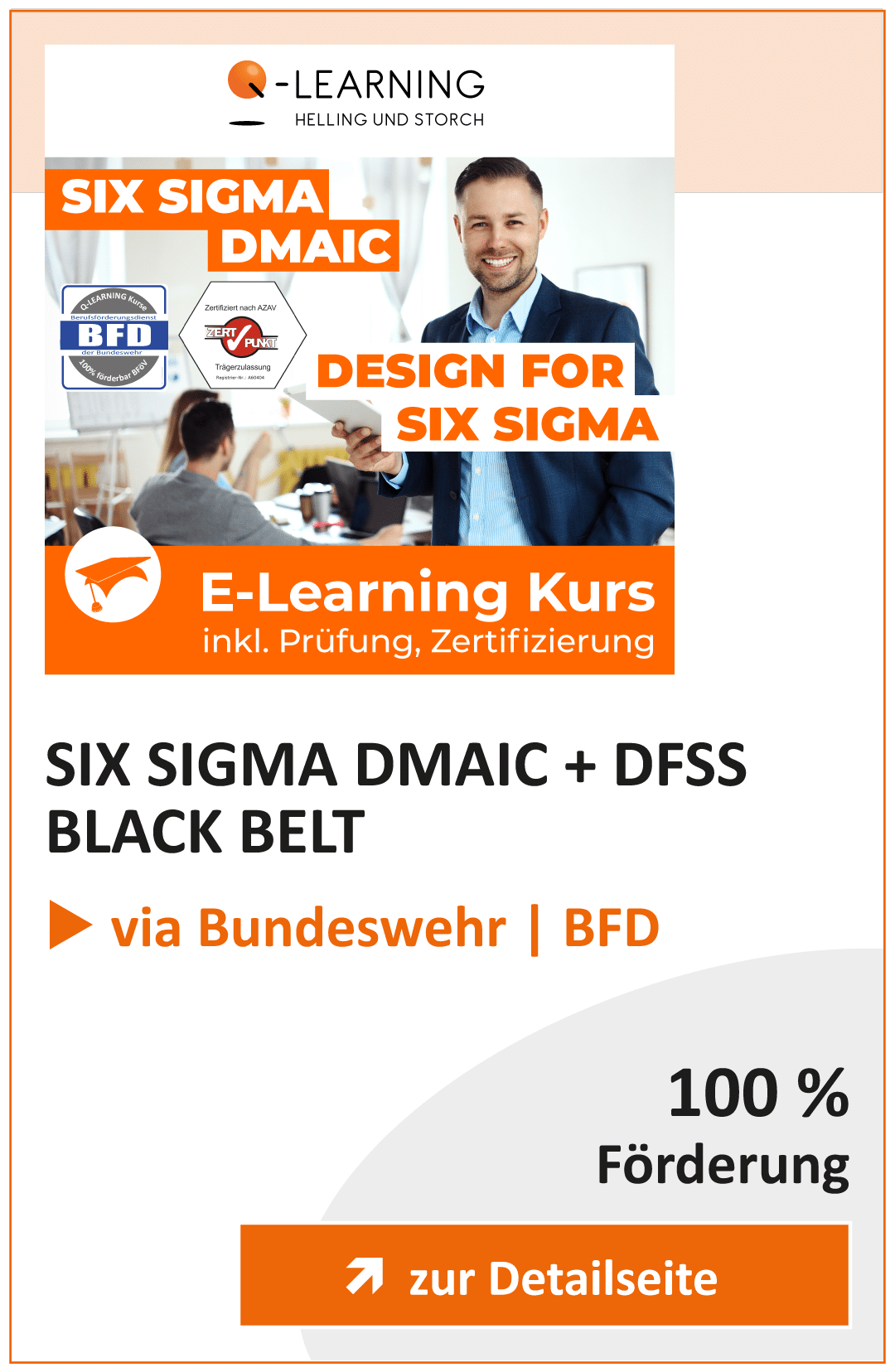 Produktbox SIX SIGMA DMAIC DESIGN FOR SIX SIGMA BFD Info