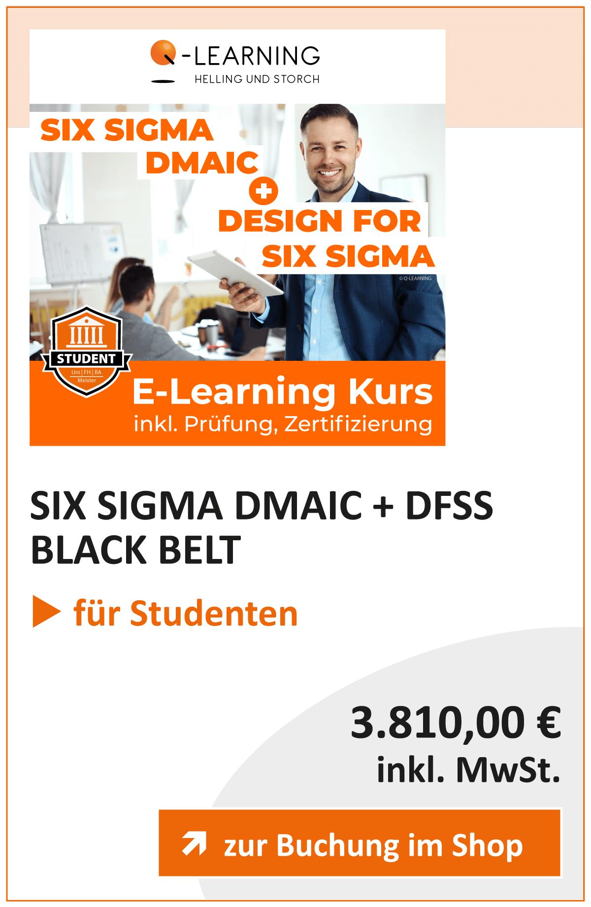 Produktbox SIX SIGMA DMAIC DESIGN FOR SIX SIGMA Studenten