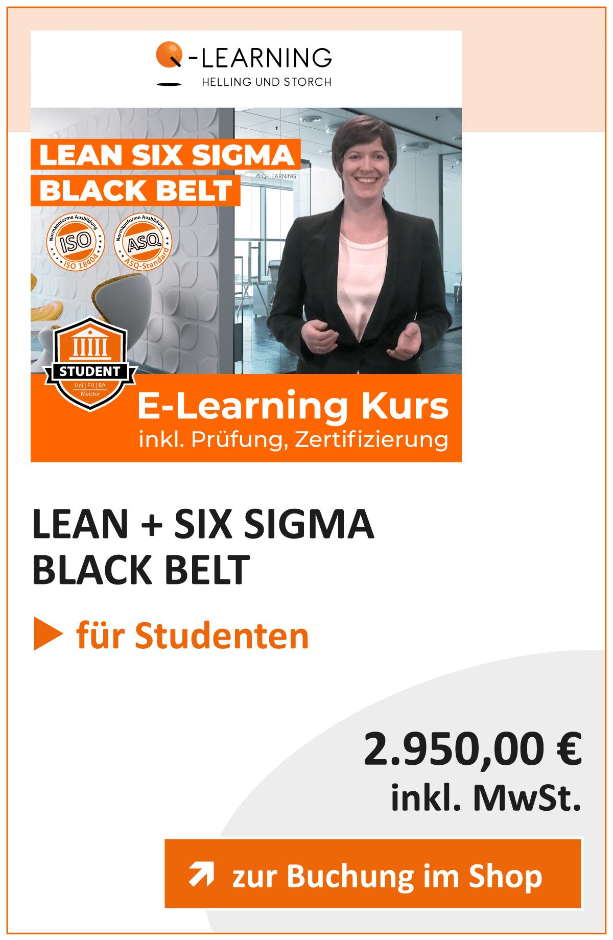 Produktbox LEAN SIX SIGMA Black Belt Studenten