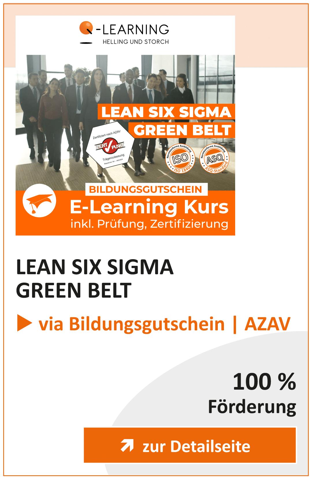 Produktbox LEAN SIX SIGMA Green Belt AZAV