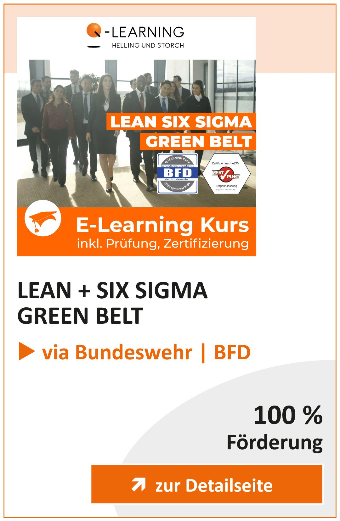 Produktbox LEAN SIX SIGMA Green Belt BFD Info