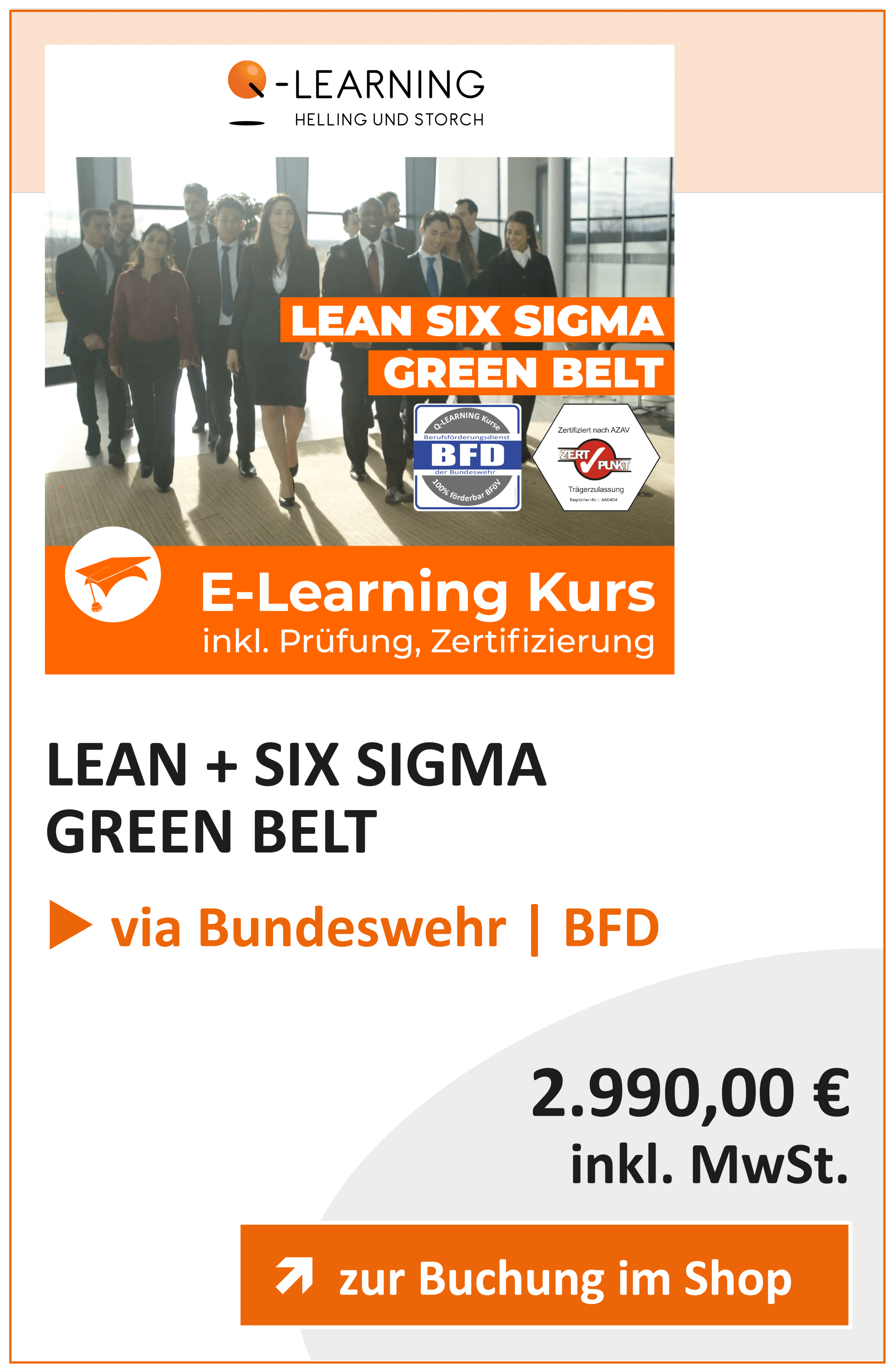 Produktbox LEAN SIX SIGMA Green Belt BFD
