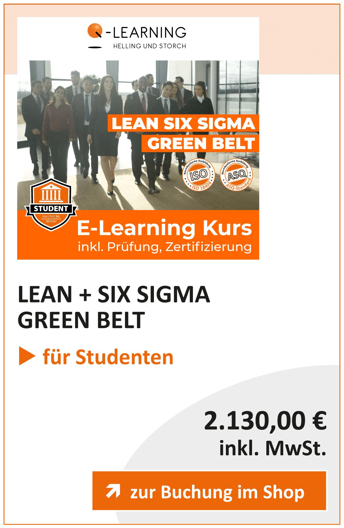 Produktbox LEAN SIX SIGMA Green Belt Studenten