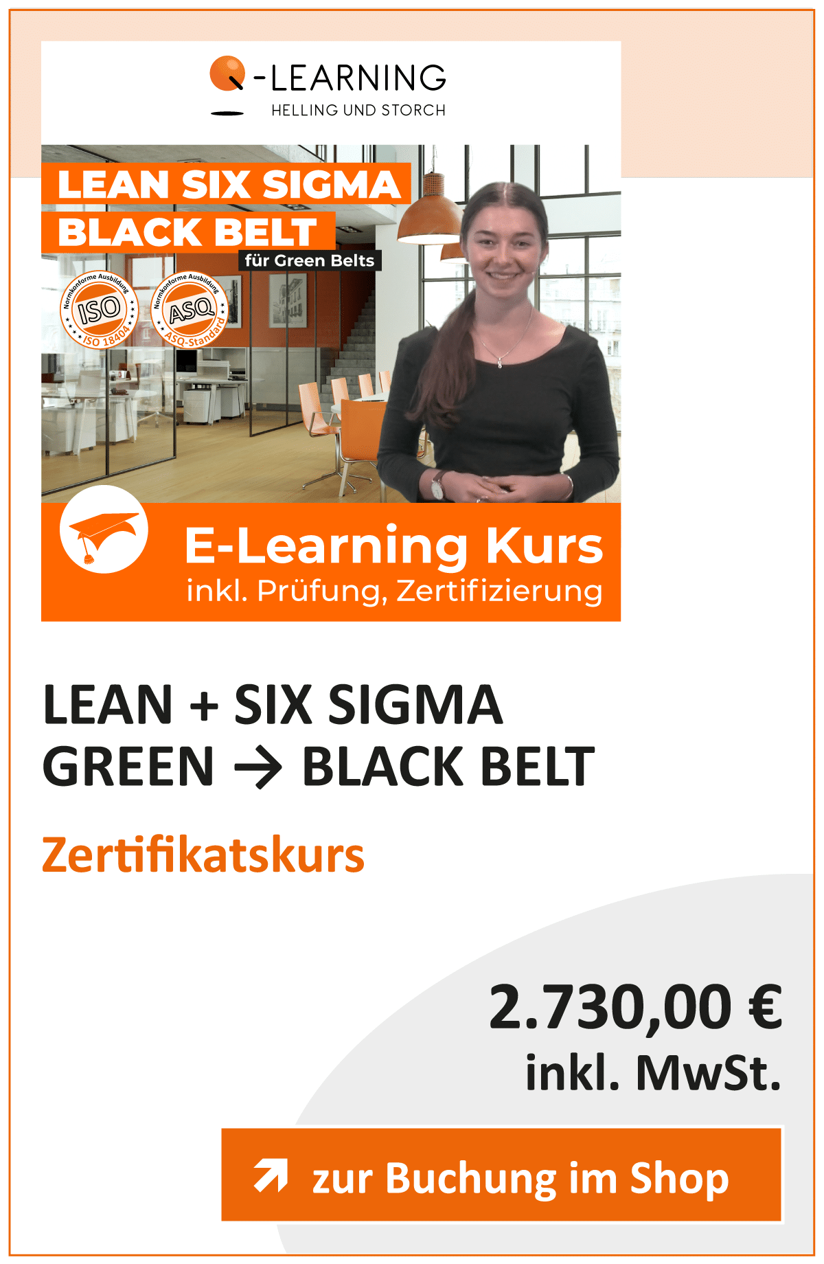 Produktbox LEAN SIX SIGMA Black Belt für Green Belts