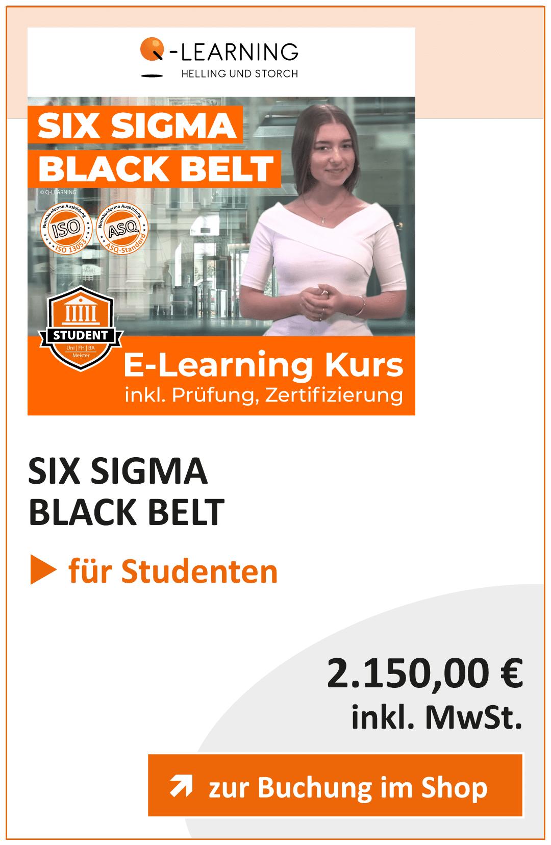 Produktbox SIX SIGMA Black Belt Studenten