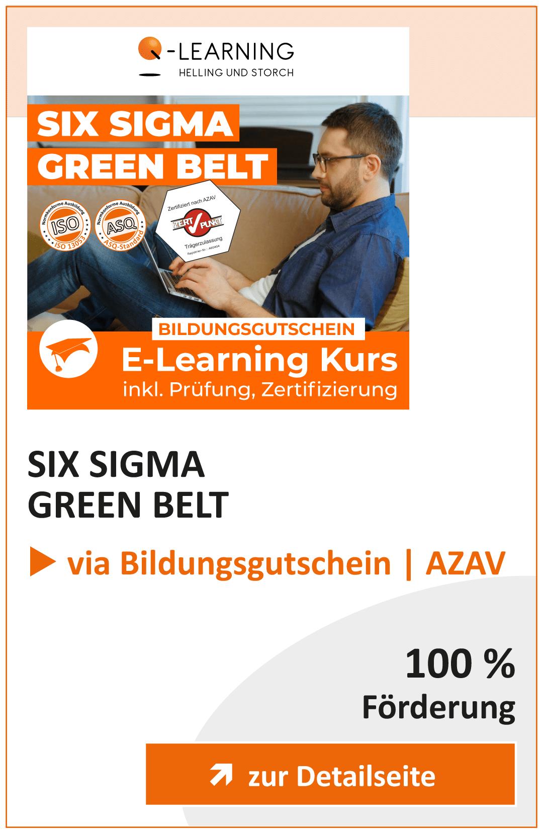 Produktbox SIX SIGMA Green Belt AZAV