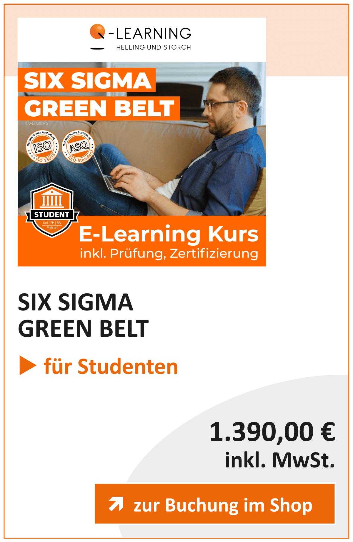Produktbox SIX SIGMA Green Belt Studenten