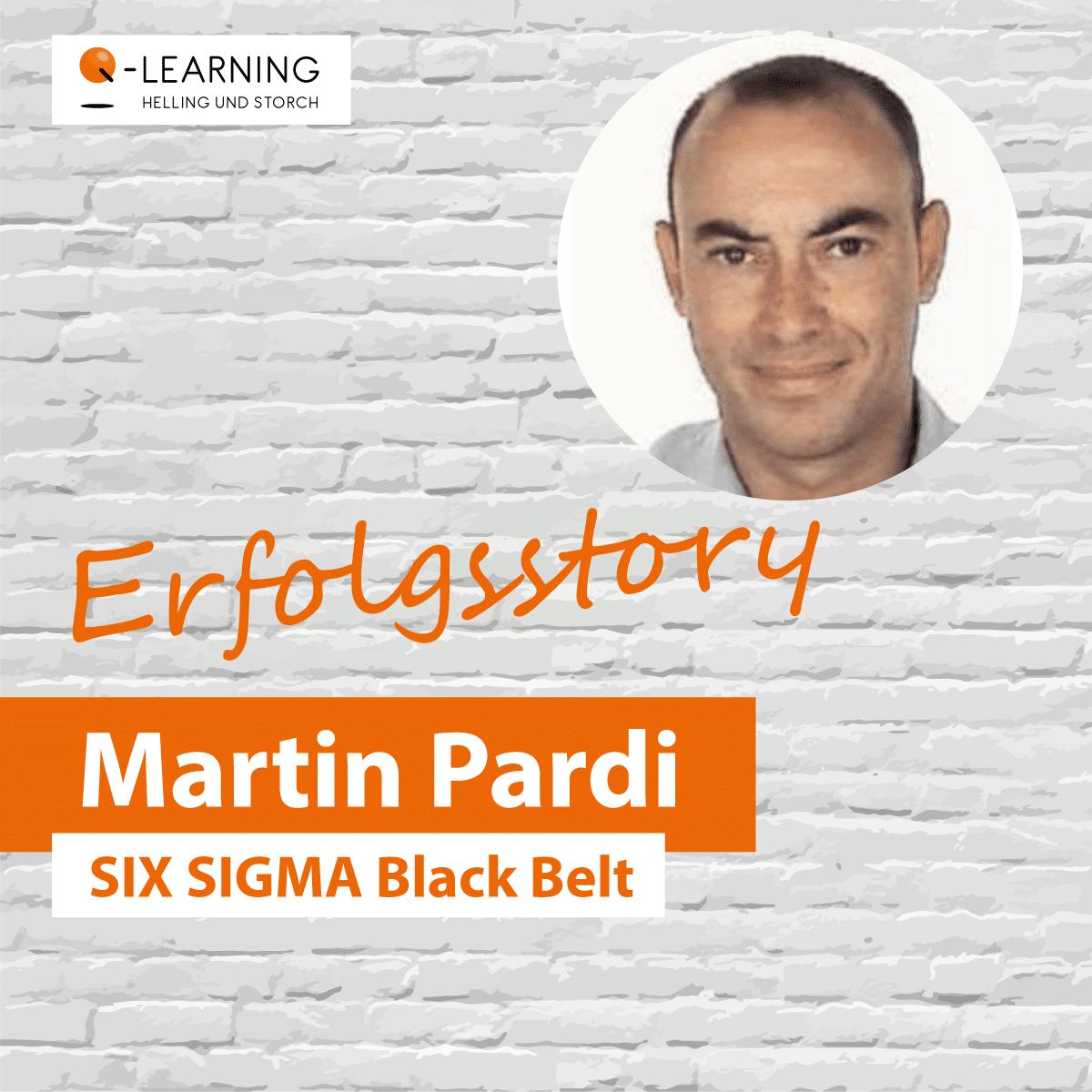 Portrait Bewertung Martin Pardi - SIX SIGMA Black Belt
