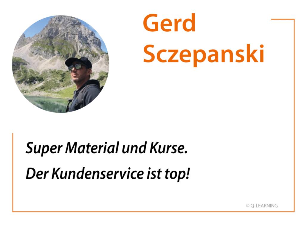 Feedback Gerd Sczepanski