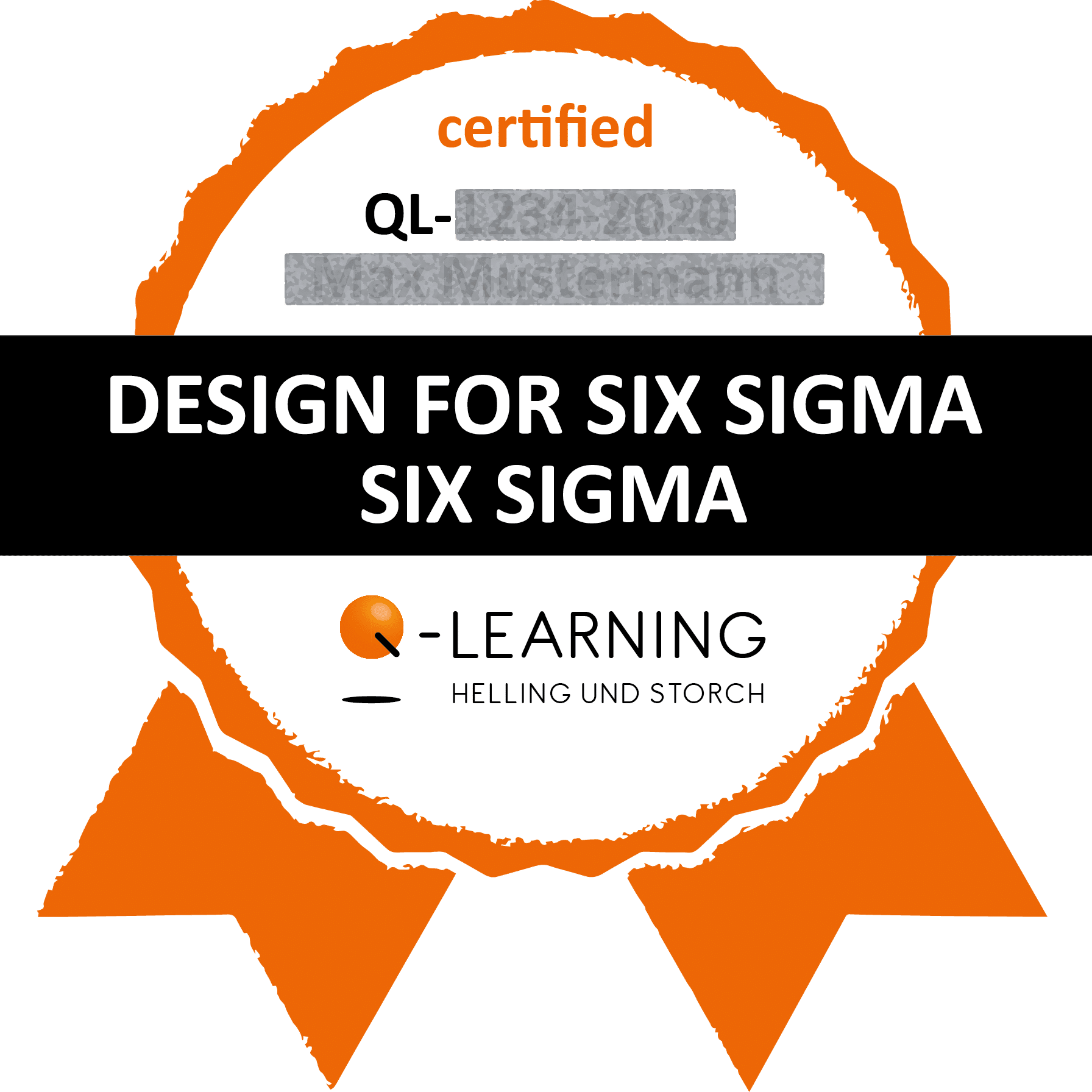 Q-LEARNING Badge Siegel DESIGN FOR SIX SIGMA Webdemo
