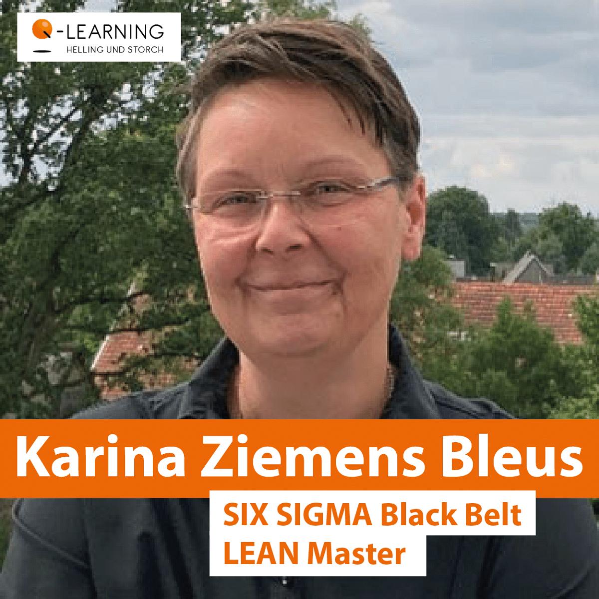 Portrait Karina Ziemens Bleus - SIX SIGMA Black Belt, LEAN Master